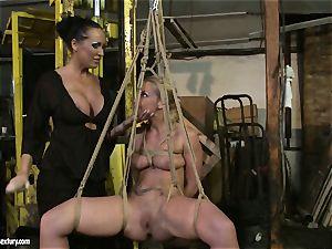 Kathia Nobili and Mandy Bright fuck stick poking stiff