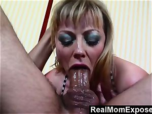 RealMomExposed red-hot tat mom gets plumbed