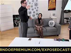 exposed audition - super hot Czech stunner inserted by stallion