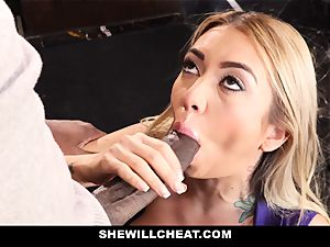 SheWillCheat - slut wifey Cheats With big black cock