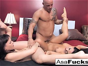 Asa and Dana squad up for a torrid 3 way with Derrick