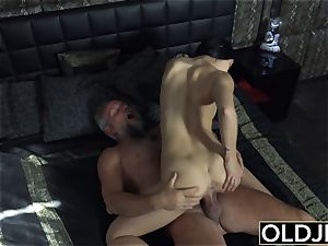 nymph Dee nubile muff munching And fuck with dirty facial