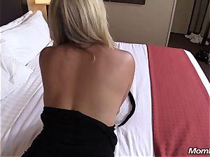 steamy ash-blonde mummy internal ejaculation pleasure