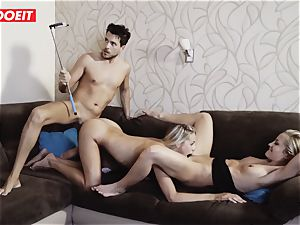 Hungarian hot babe Gets Rebound sex With Spanish duo