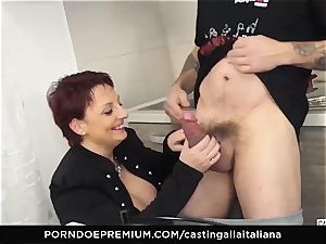 audition ALLA ITALIANA Mature ginger-haired rump pulverized deep