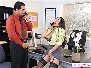 Office breezy Priya Price with immense funbags loves rock-hard lollipops