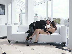 Valentina Nappi poking with enthusiasm