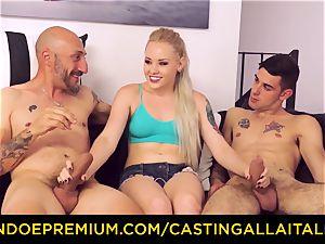 CASTNG ALLA ITALIANA - blond vixen rough double penetration orgy
