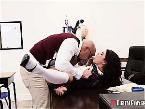 horny college girl deserves to be penalized for her misbehavior
