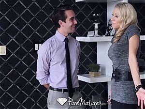 PureMature pornographic star mummy Katie Morgan boinks client