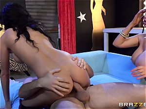 Alektra Blue and Nikki Benz are a fantasy threesome