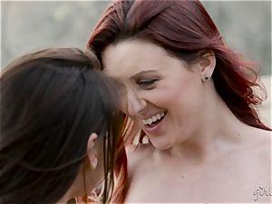 girl-on-girl sweethearts Karlie Montana and Sara Luv