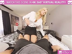 VRBangers.com-MILF is plunging a wand in her cunt