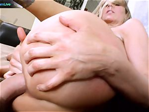 Julia Ann getting her gaping crevice stretched