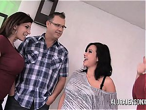 steaming milf pornstars group pounding with a guy