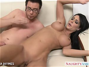 big-titted brown-haired Jessica Jaymes gets poked