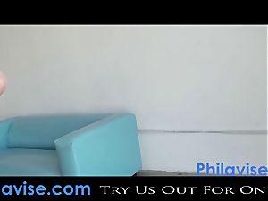 PHILAVISE-Beautiful all-natural jug brown-haired Karina white