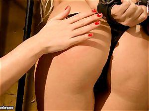 Kathia Nobili super-naughty jail guard tantalizing a super-hot stunner